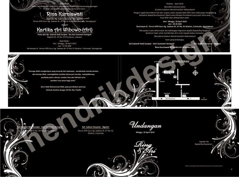 desain undangan pernikahan ini kami namakan und block flower desain ...