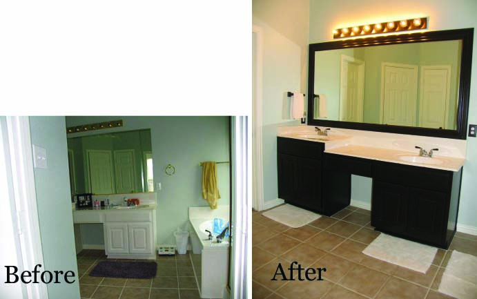 Style with cents bathroom Master bathroom remodel before and after
