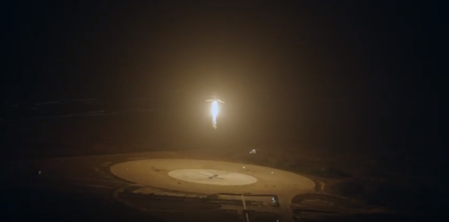 SpaceX has made aviation history by successfully landing its powerful Falcon 9 rocket in upright position at Cape Canaveral, Florida.   An official video captures a magical moment never seen before -  a flared-up rocket landing vertically instead of blasting off.