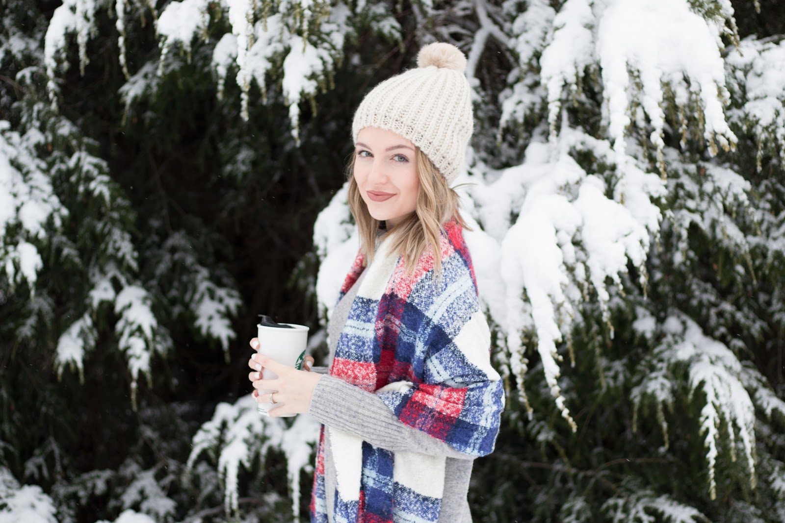 Cozy blanket scarf and beanie