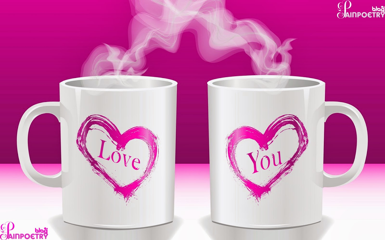 Love-Wishes-Wallpaper-For-Lovers-I-Love-You-Writed-On Two Cups-Image-HD