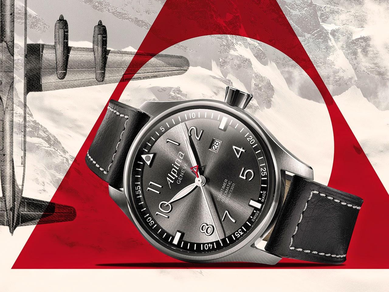 Alpina Startimer Pilot Automatic Sunstar Watch