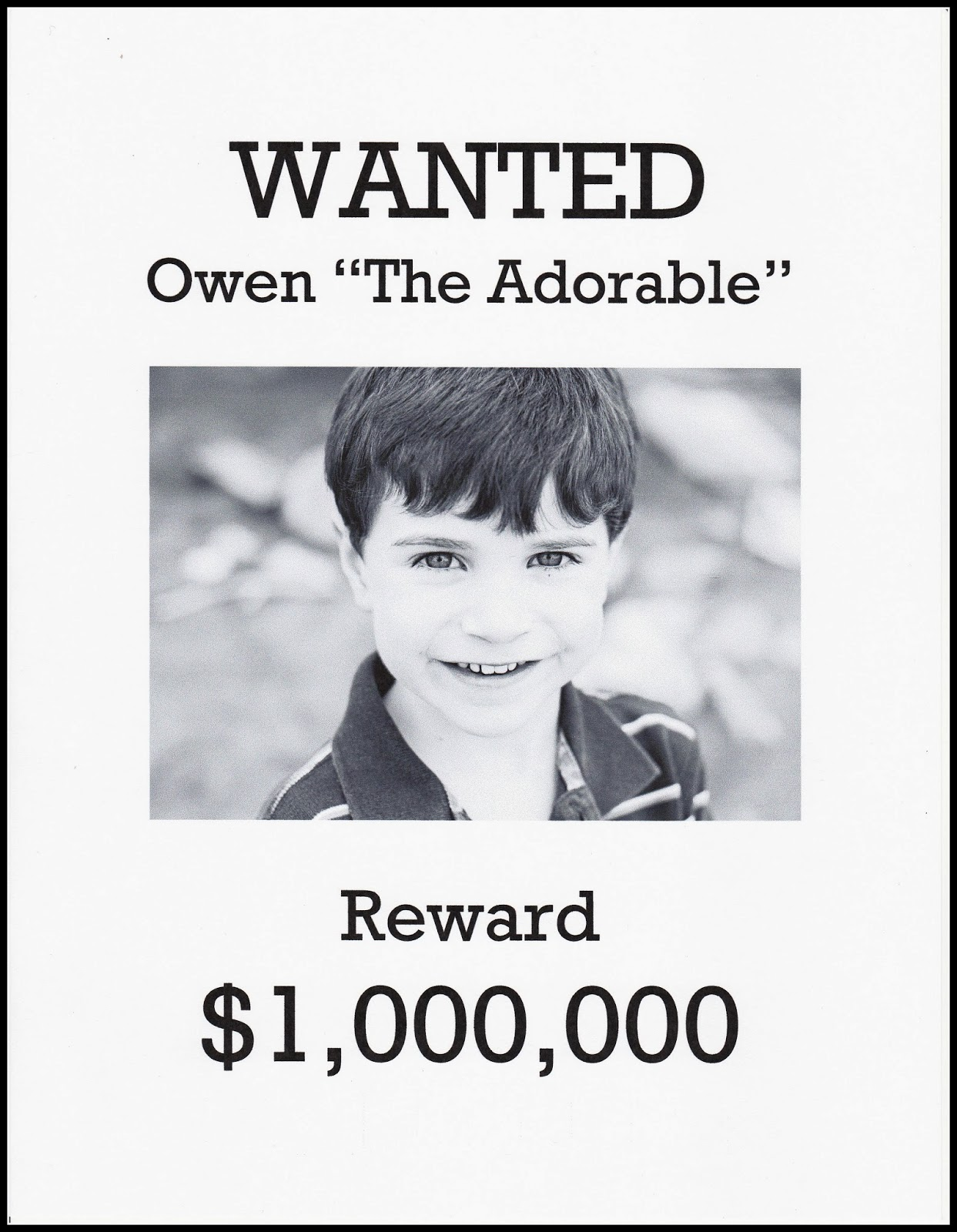 white wanted poster template