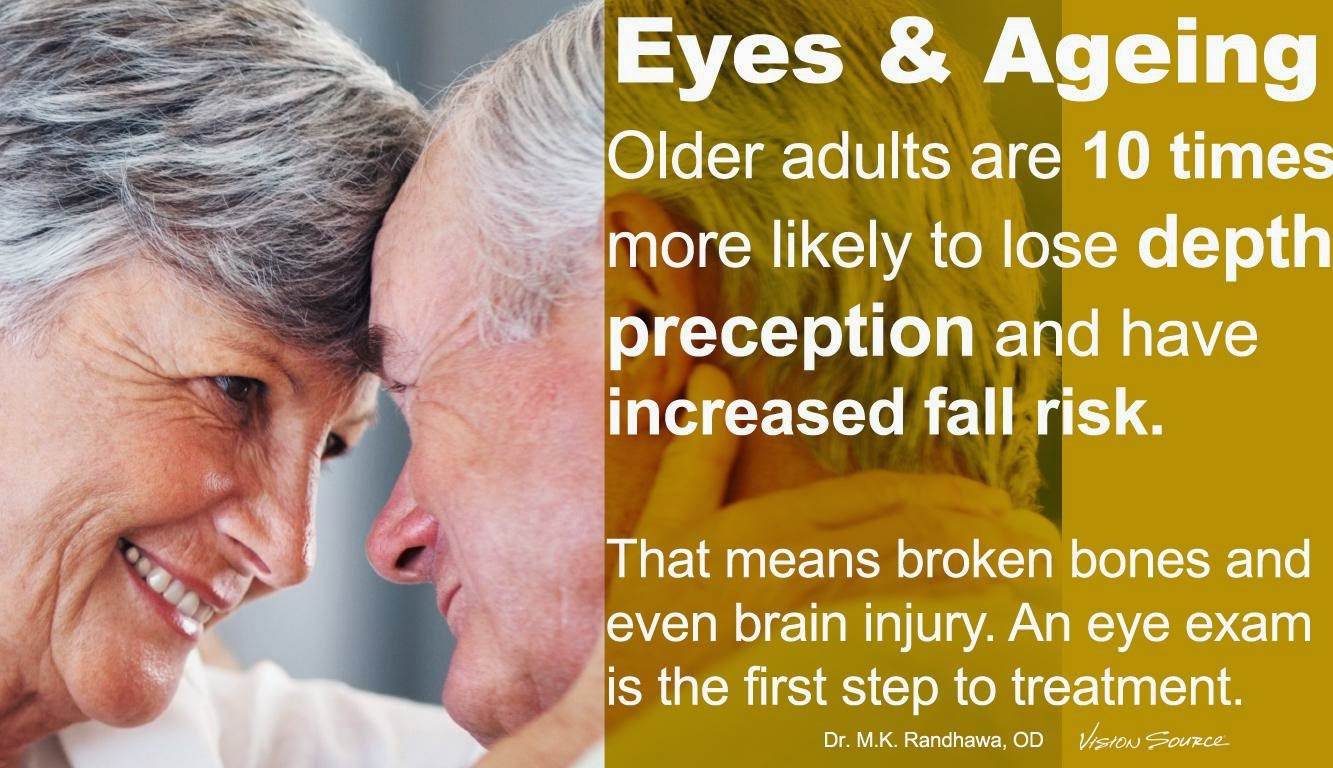 Depth perception in elderly adults