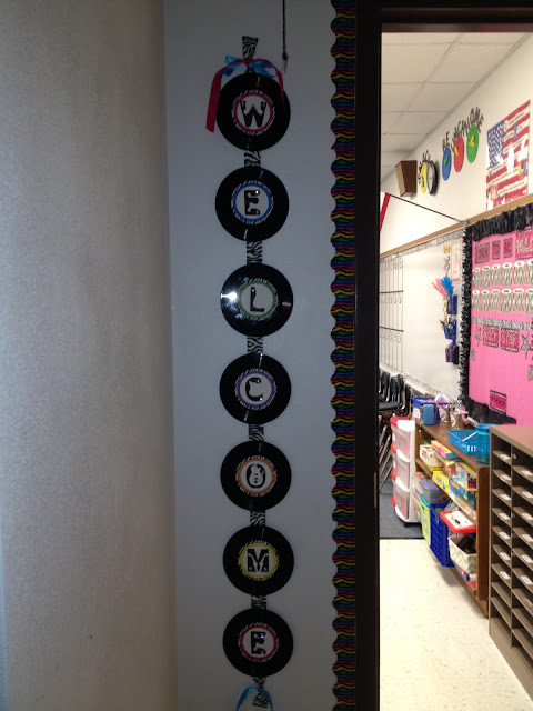 Music Classroom Decor ~ Firsties rockin the mullett rockstar classroom theme