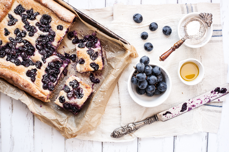 Focaccia with Grapes