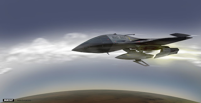 Mad Bat hyper-sonic jet