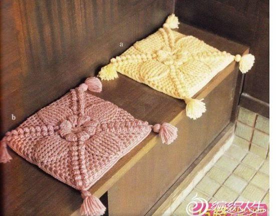 Cubre sillas crochet