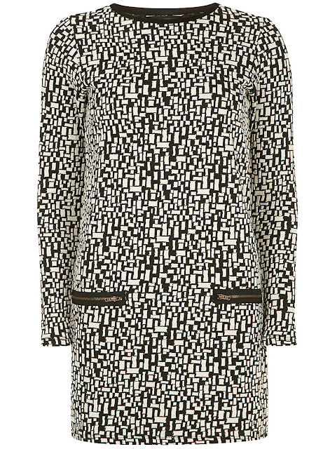 jacquard knit tunic dress
