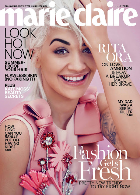 Singer, Actress @ Rita Ora by Beau Grealy for Marie Claire US, July 2015