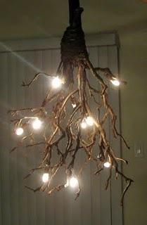 Halloween - luminária de galhos secos