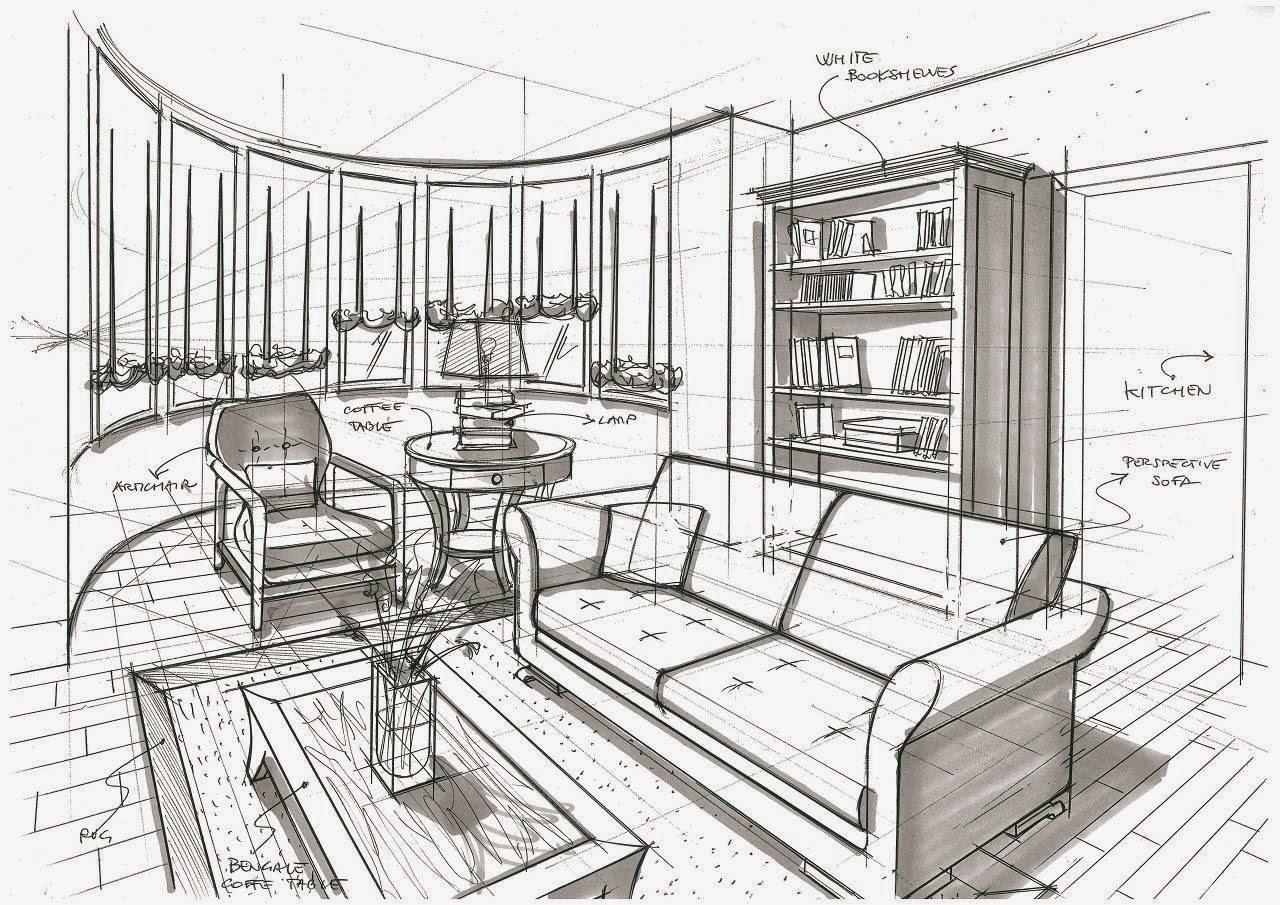 Alberto sozzi store manager and senior interior designer schizzi di studio - Blog di interior design ...