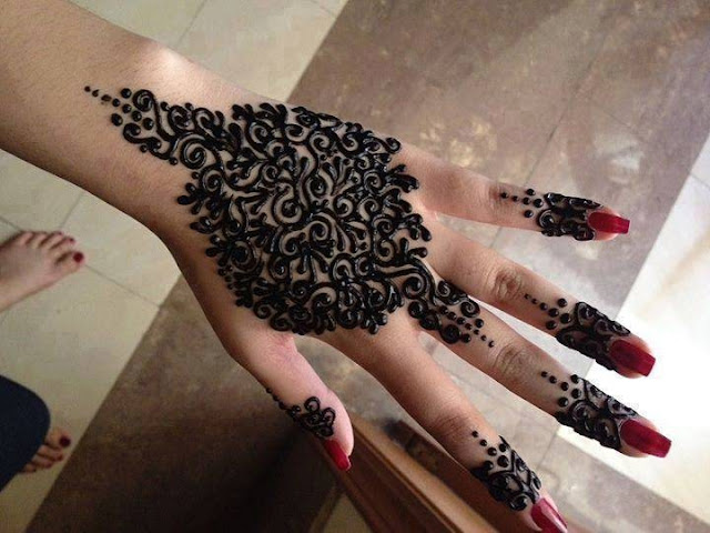 Mehndi Henna Black : Bridal mehndi designs top black