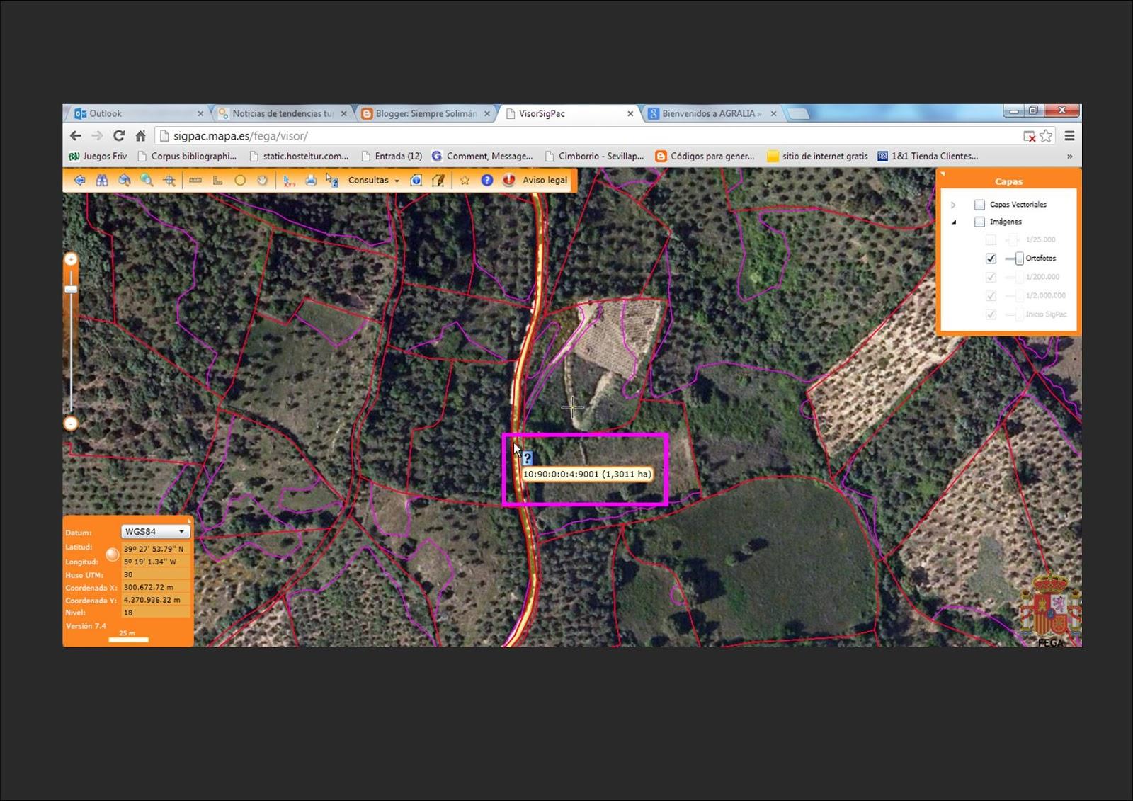 Geoturismo en el geoparque villuercas herramientas en for Catastro burgos oficina virtual