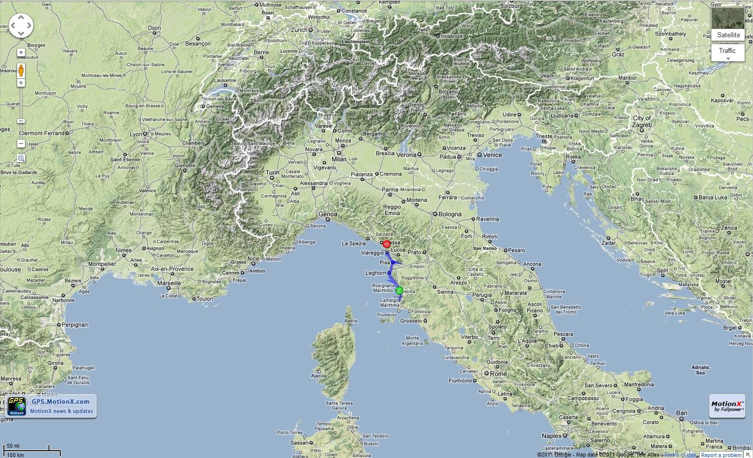 Nedly on his Treadly San Vincenzo to Viareggio