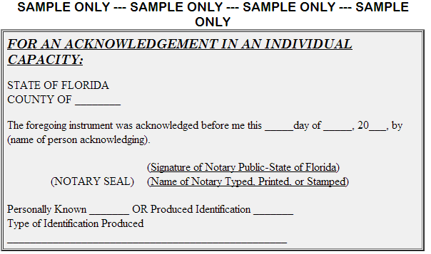 Doc432432 Sample Notary Statements notary template 89 – Sample Notary Statements