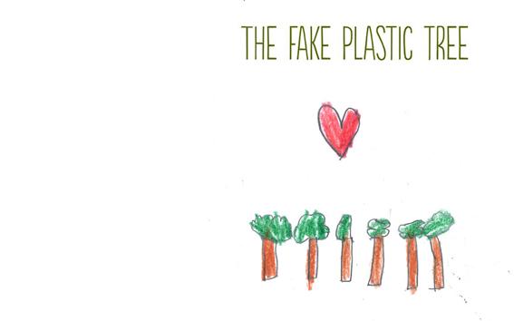 The fake plastic tree.