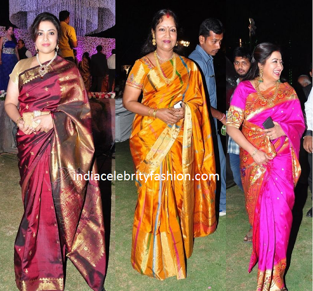 South Indian Celebrities in Silk Sarees
