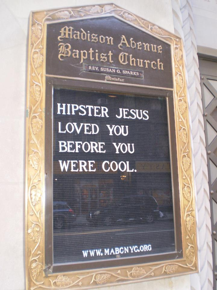 hipster jesus loved you before you were cool