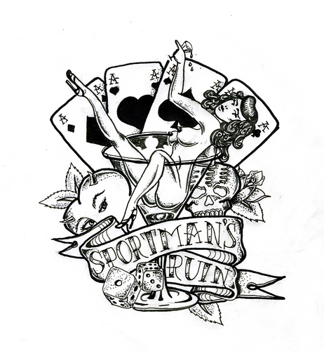 Tatto playing cards tattoo designs photos for Card tattoo designs