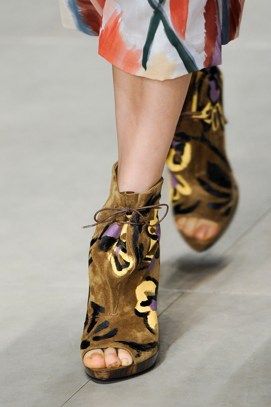 Open toe ankle boots Burberry Prorsum Autumn Winter 2014 details
