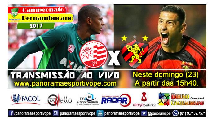 Domingo - Náutico x Sport, ao vivo na Web Rádio Panorama Esportivo PE
