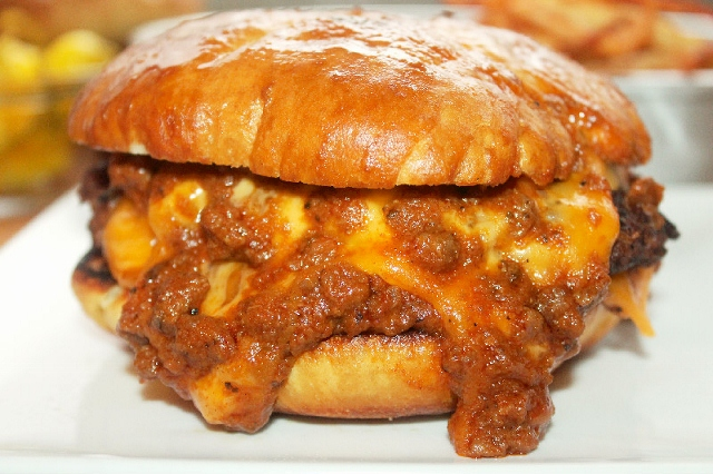 Quadruple Chili Cheeseburgers Recipes — Dishmaps