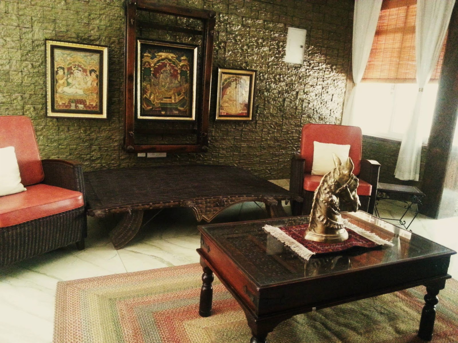 crystal grandeur: a home with traditional indian touch:))