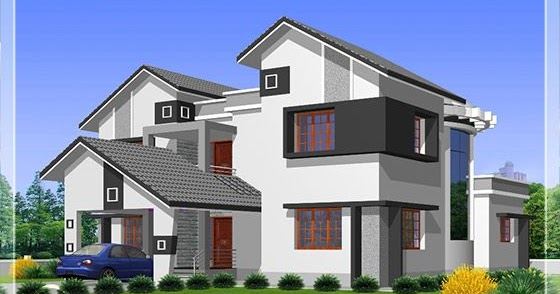 2912 5 diffrent type house designs kerala house for Different types of house plans