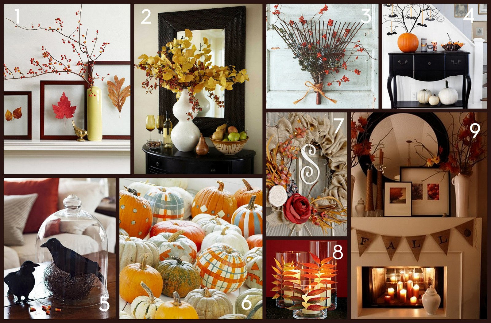 Home made modern pinterest easy fall decorating ideas for Homemade fall decorations for home