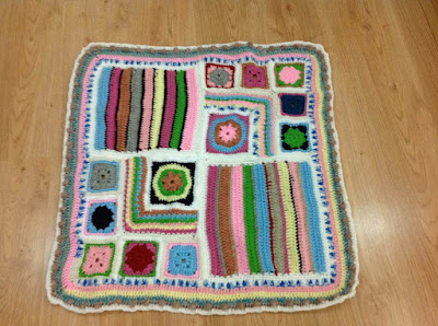 crochet, crochet along, scraps of yarn projects