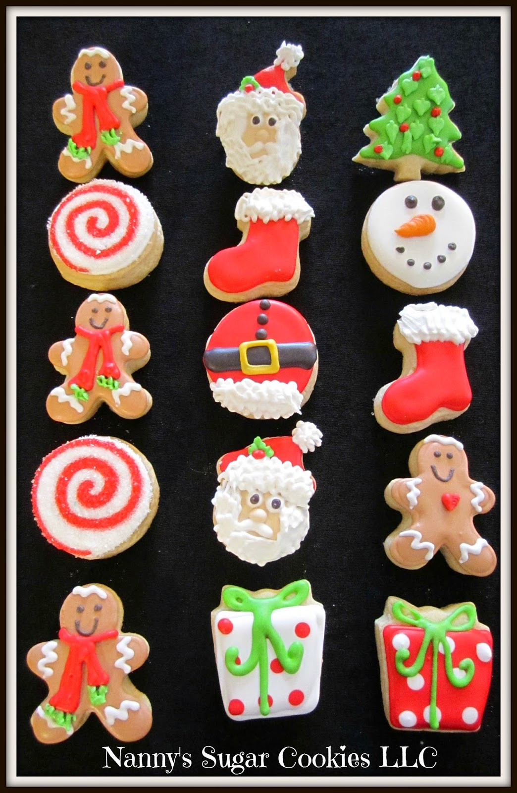 Nanny S Sugar Cookies Llc 2014 Christmas Mini Collections And