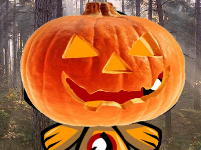 Can you work out which Mascot is wearing the ill fitting pumpkin?