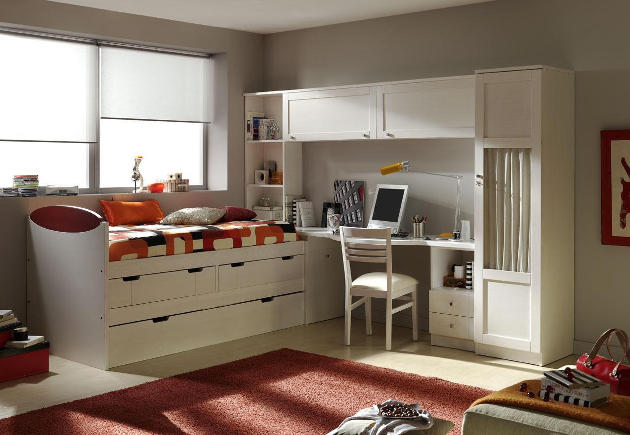 Bianchi muebles dormitorios juveniles valencia for Habitaciones con muebles blancos