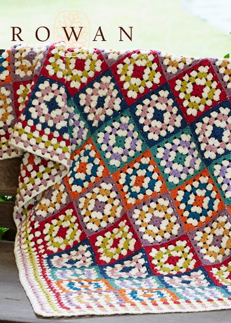 The Vintage Pattern Files Free 1970's Crochet Pattern -  Granny Square Blanket