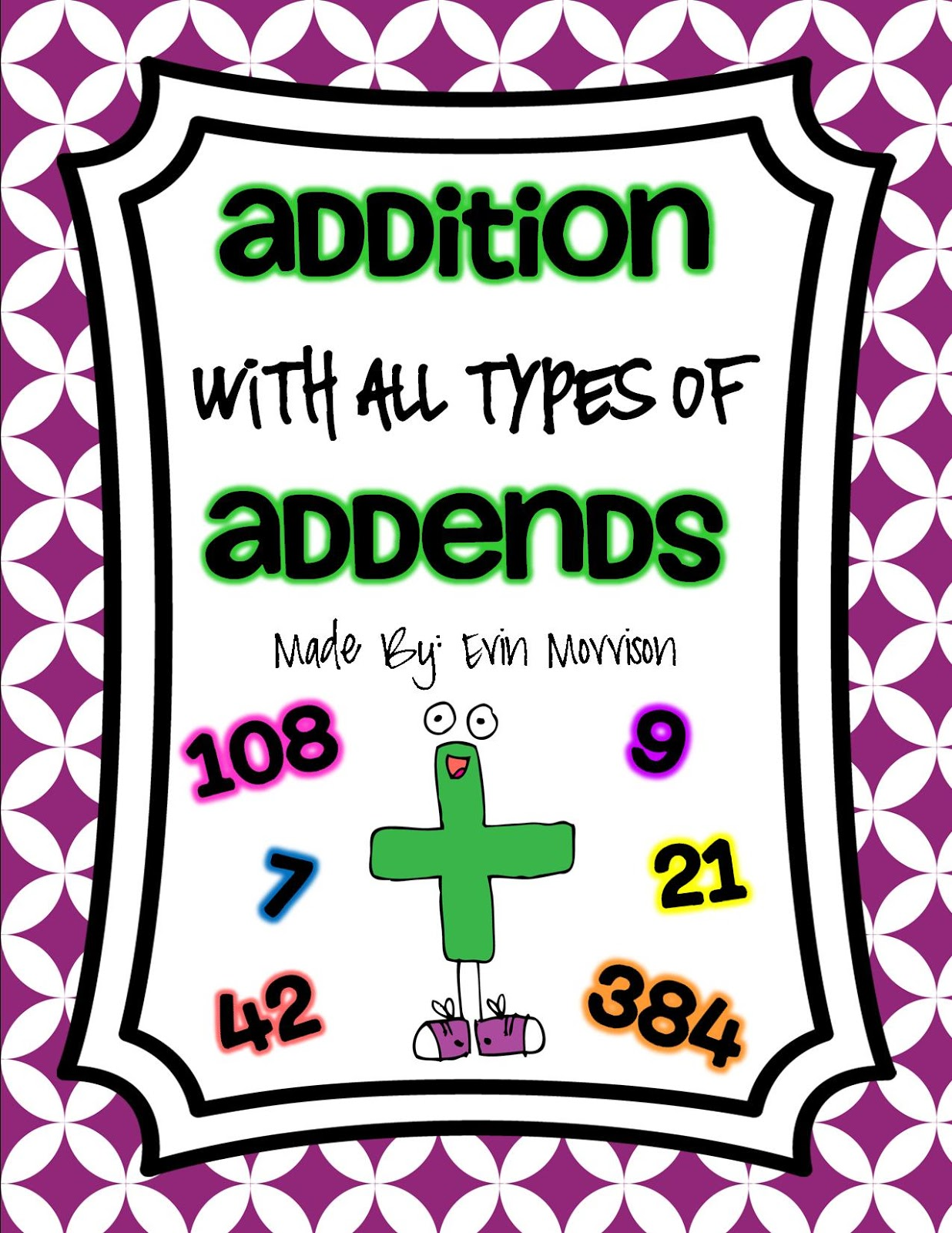 worksheet Addends the open door classroom addition with all types of addends addends