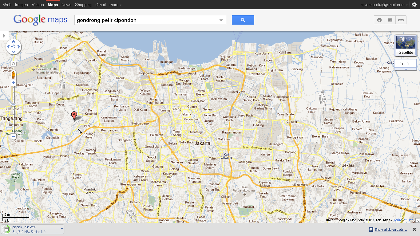 Map Jakarta Tangerang