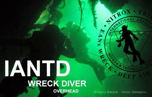 IANTD PADI Wreck Diving course with Aquarius dive center Constanta Romania Black Sea