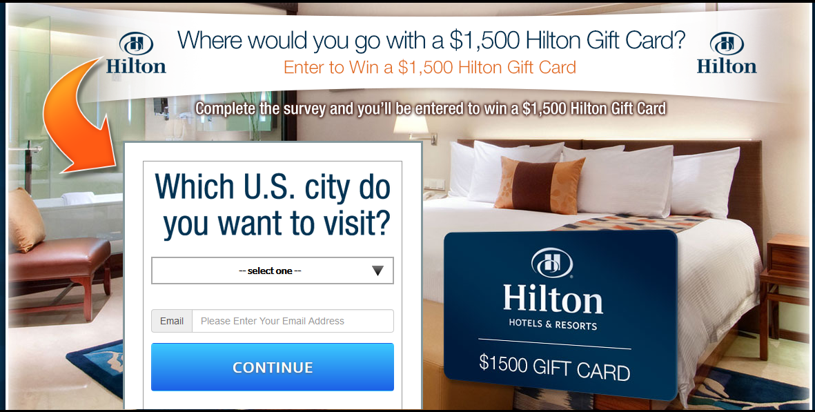 Enter to Win A $1,500 Hilton Vacation Gift Card TODAY!