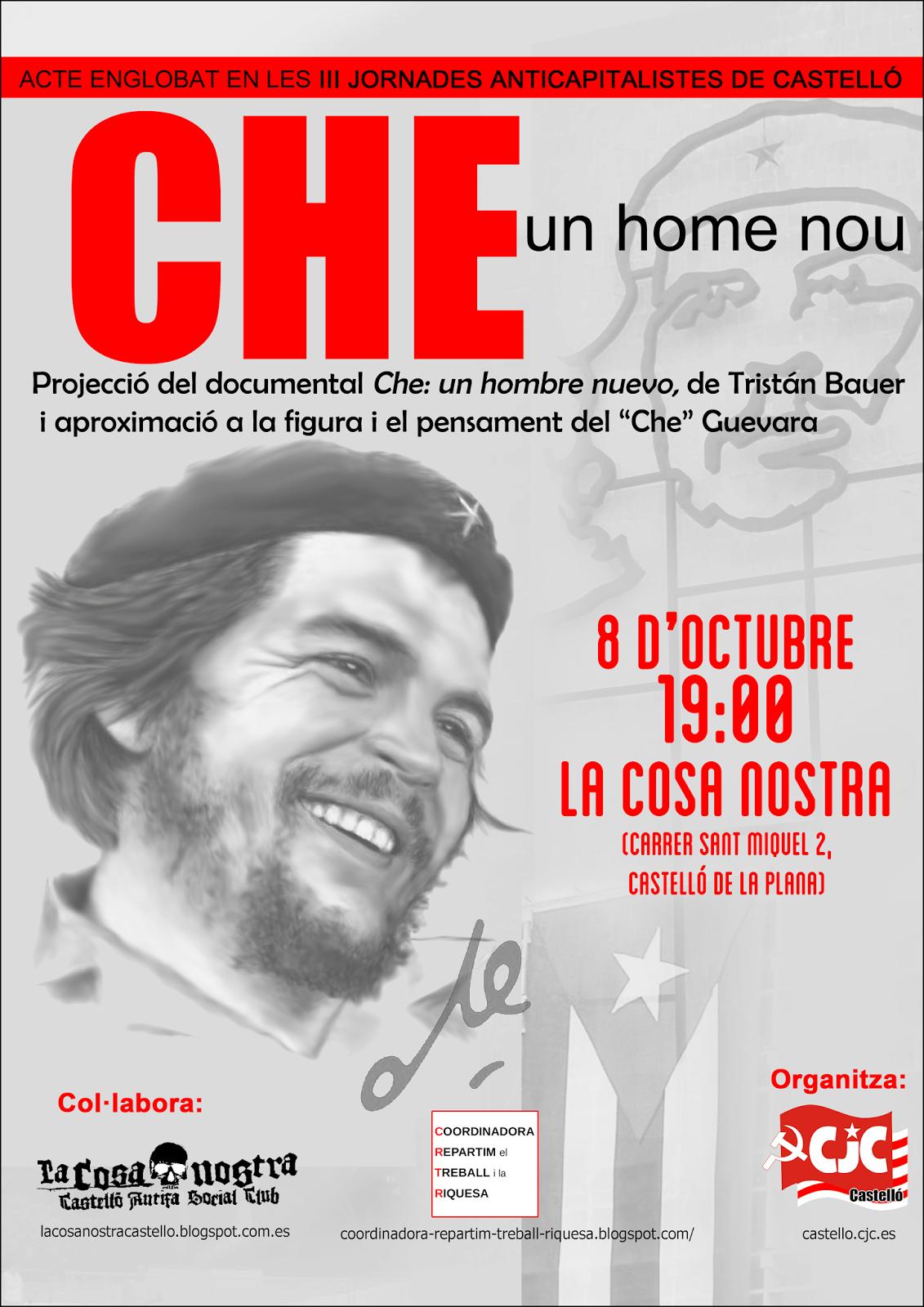 [CJC  Castelló] Homenatge al Che Guevara, l'home nou  Cartell+che