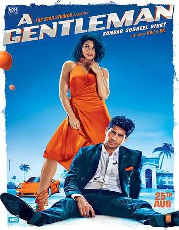 Poster Of Bollywood Movie A Gentleman 2017 300MB Pdvd Full Hindi Movie