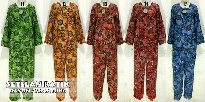 Setelan Baju Batik Wanita Dan Celana