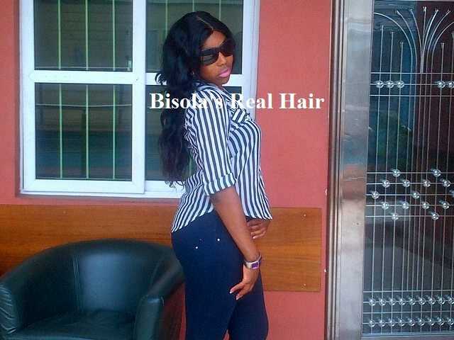 Bisola Wearing Her Hair