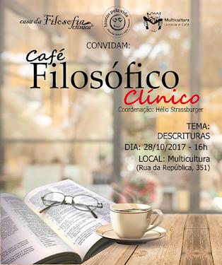 Café Filosófico Clínico em Porto Alegre/RS. Outubro/2017