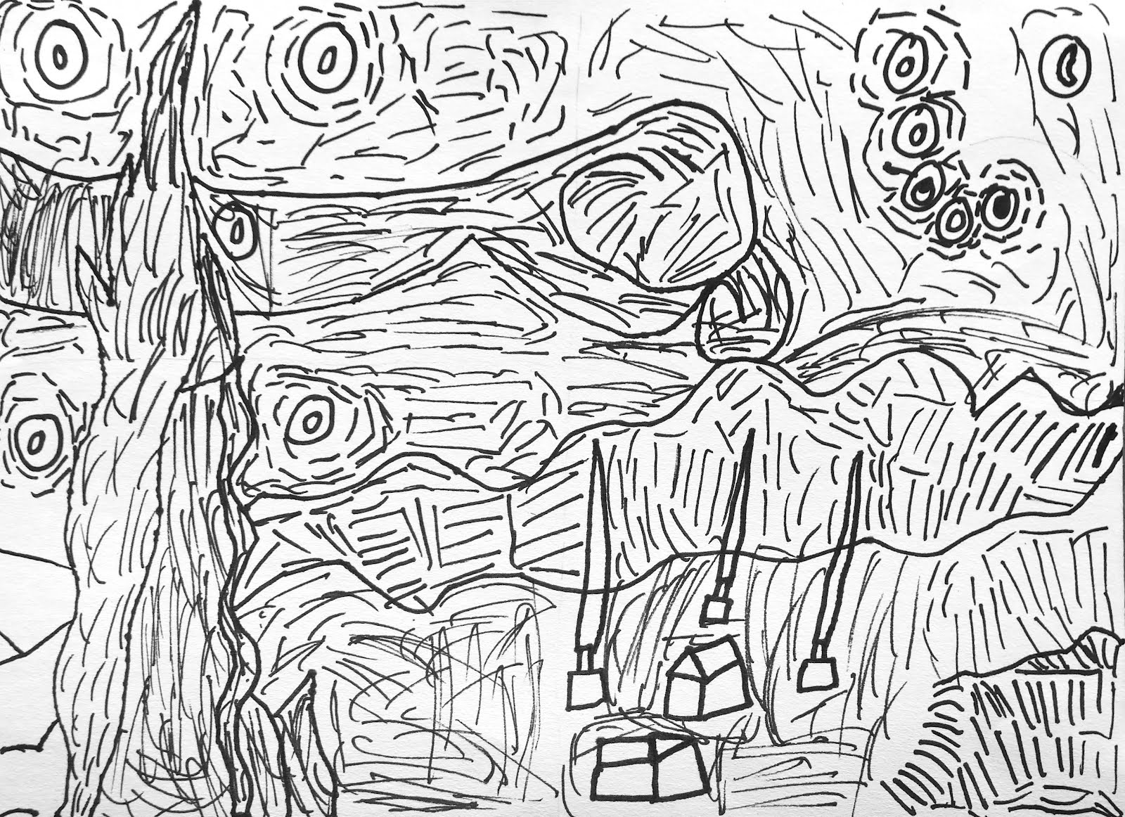 Free Coloring Pages Of How To Draw Starry Night Starry Coloring Page Gogh