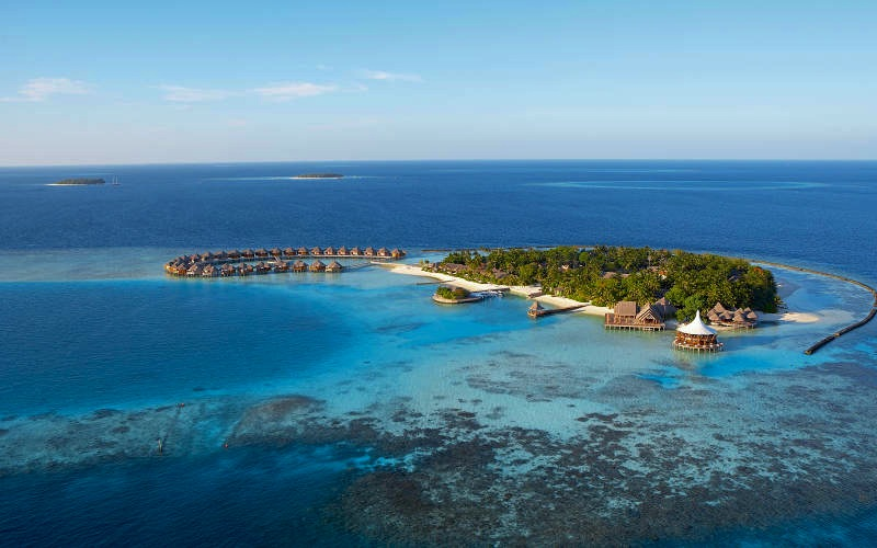 Aerial View of Baros Maldives