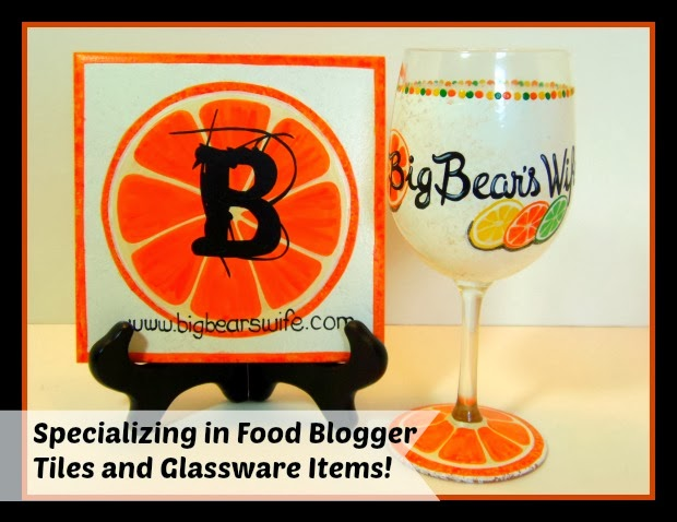 Food Bloggers Hand Painted Wine Glass and Trivet