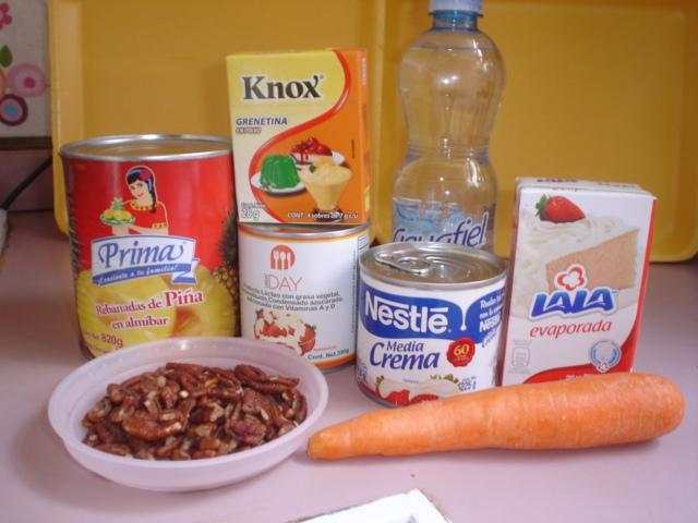 Denizita 39 s cooking gelatina de zanahoria pi a y nuez - Gelatina leche condensada ...