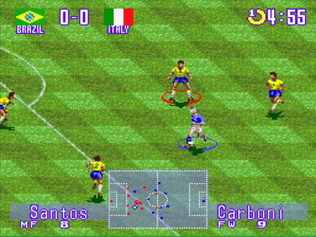 algumas imagens do jogo ?International Super Star Soccer Deluxe