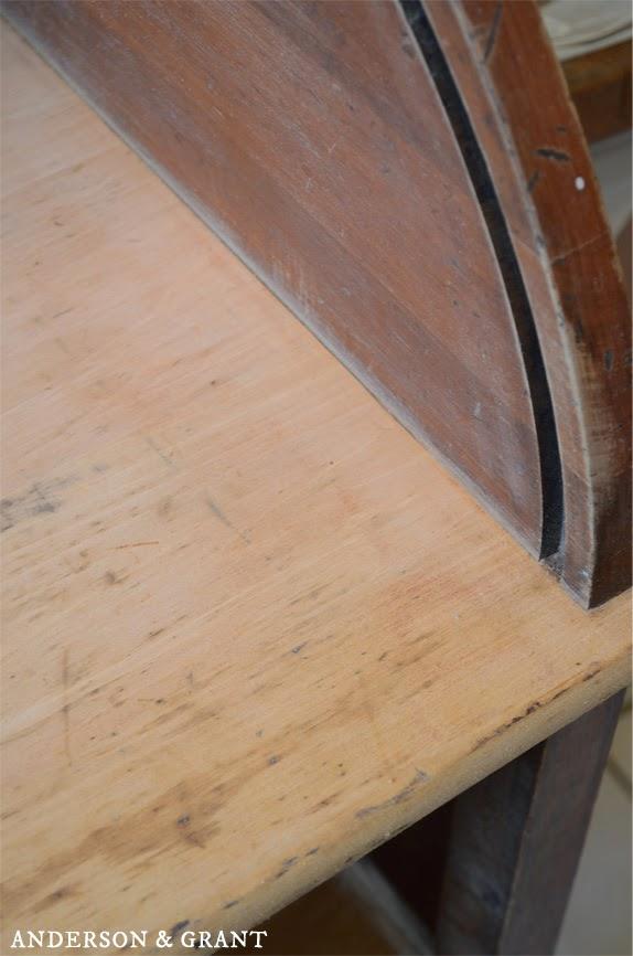 Sanded desktop for staining | www.andersonandgrant.com